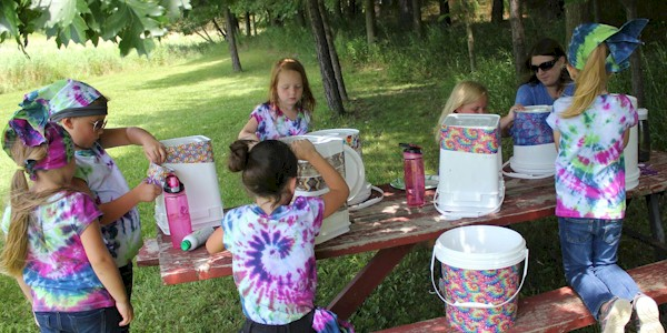 Kids camping party