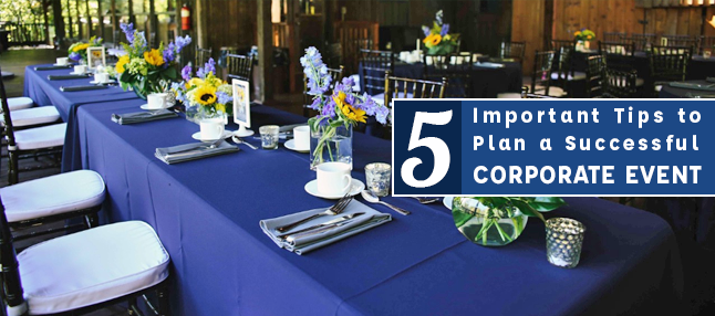 Tips to plan a corporate event