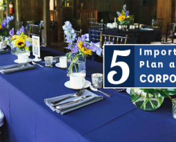 5 Important Tips to Plan a Successful Corporate Event