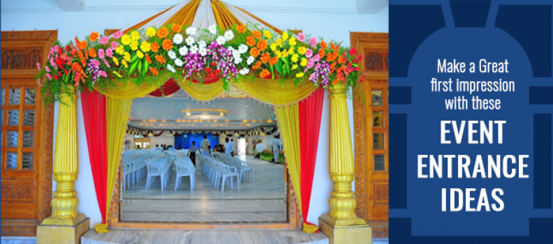 Make a Great first impression with these event entrance ideas.
