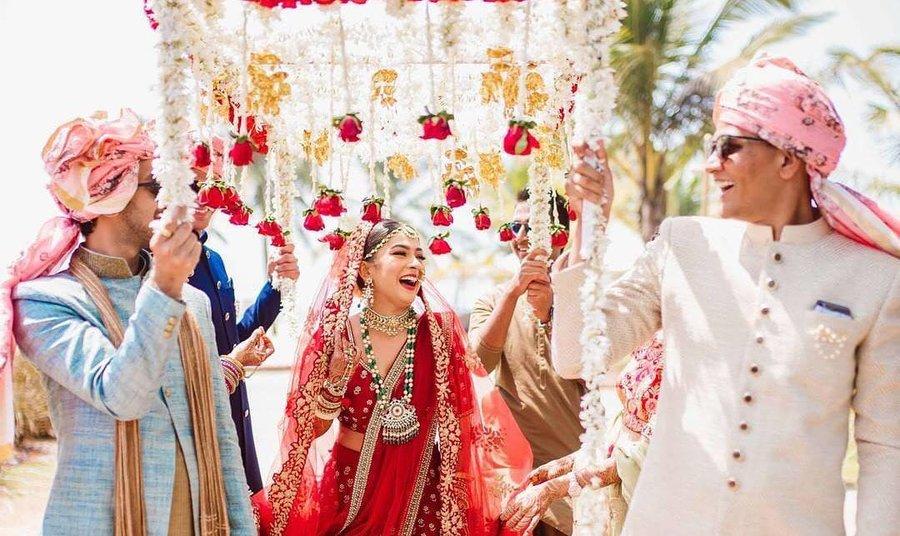 Bride Entry in Mandap Indian Wedding - J & R Events